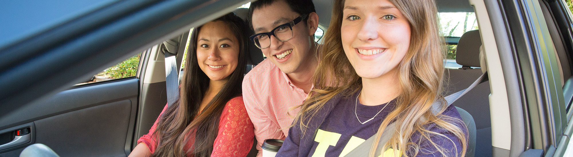 UW students using seatbelts