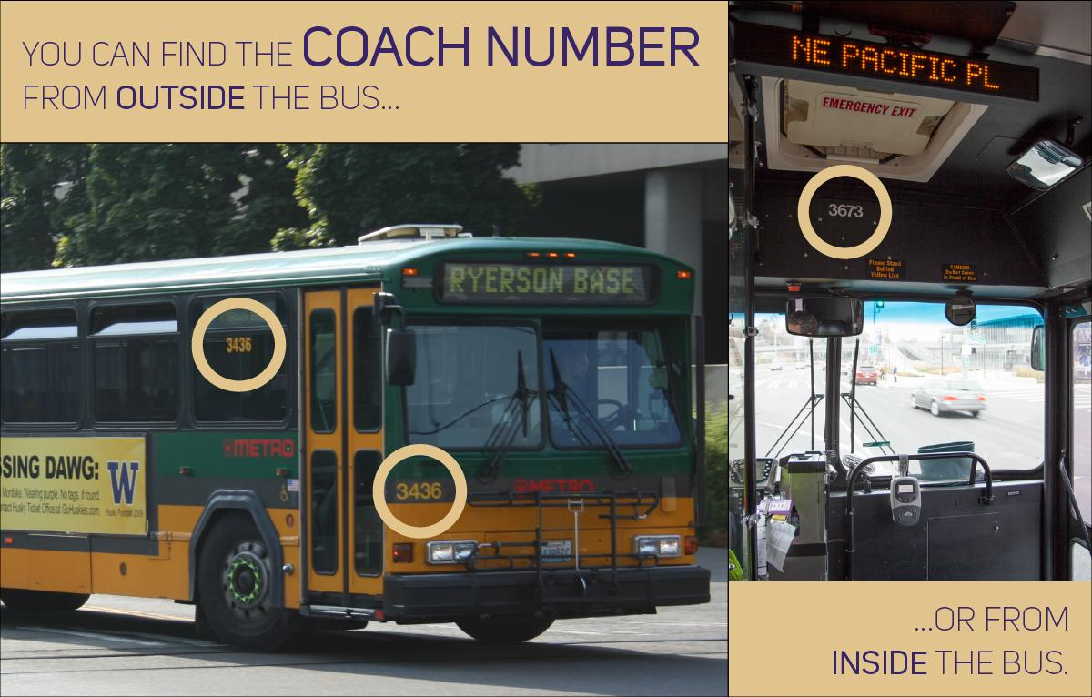 Coach number for Metro buses