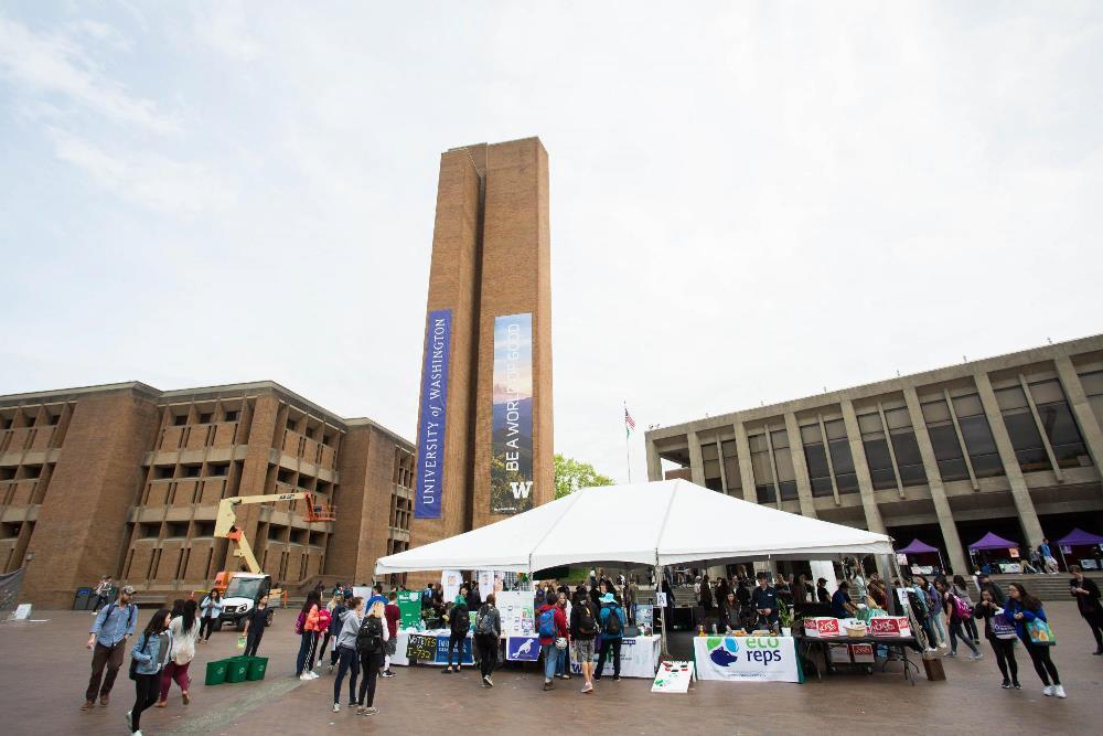 UW Sustainability tent in Red Square