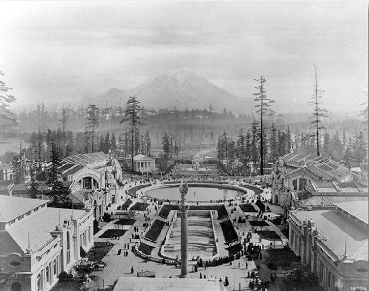 drumheller fountain historical photo