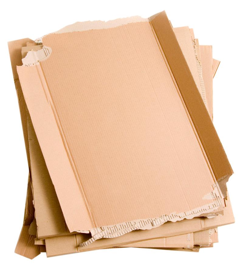 flattened cardboard