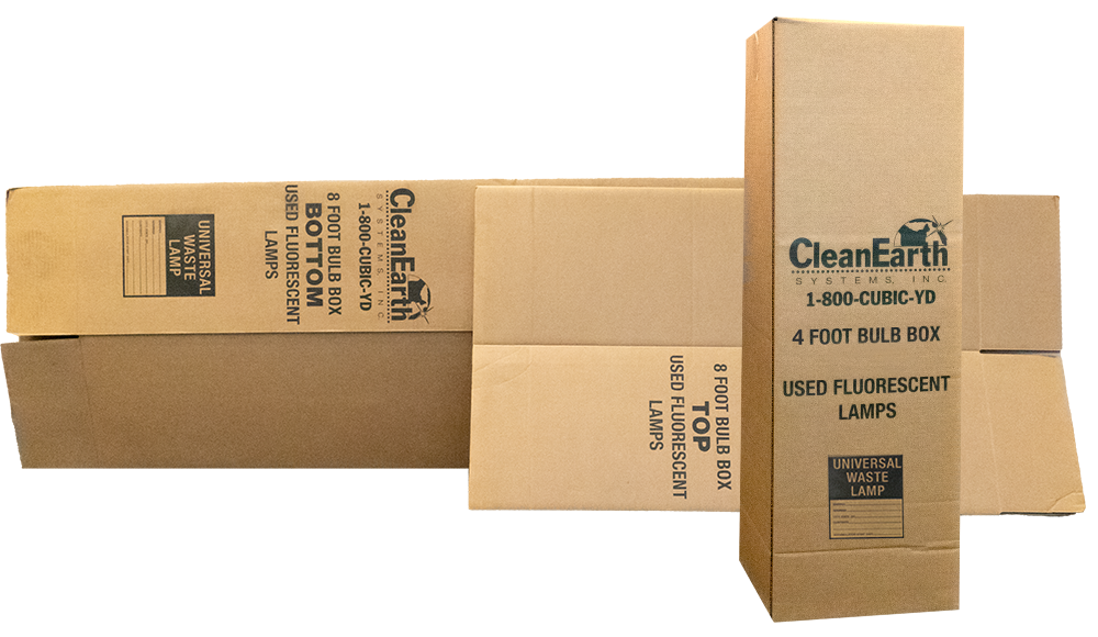 boxes for fluorescent lamp disposal