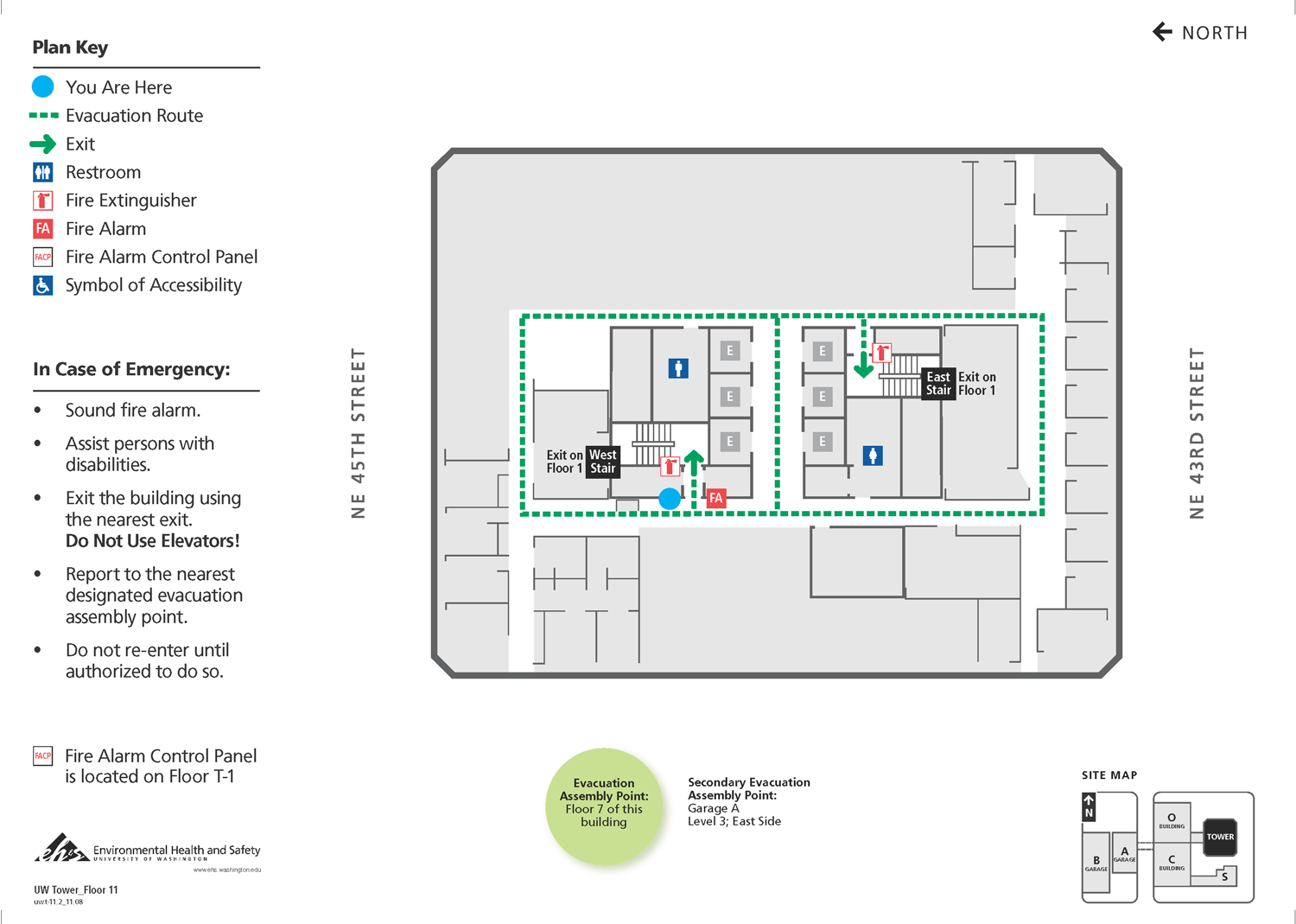 Evacuation Maps Uw Facilities