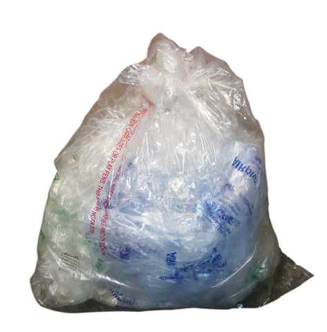 Plastic film, bagged for recycling