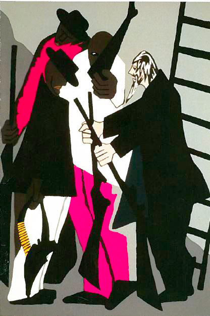 "jacob lawrence's ""The Legend of John Brown, No. 6"" painting"