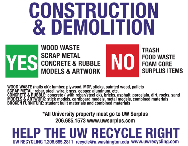 Construction And Demolition C Amp D Waste Uw Facilities