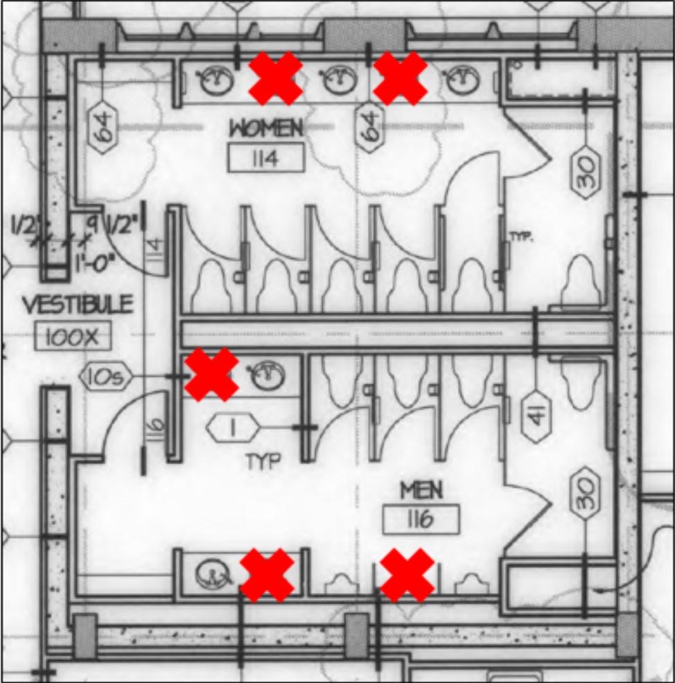 diagram of a restroom