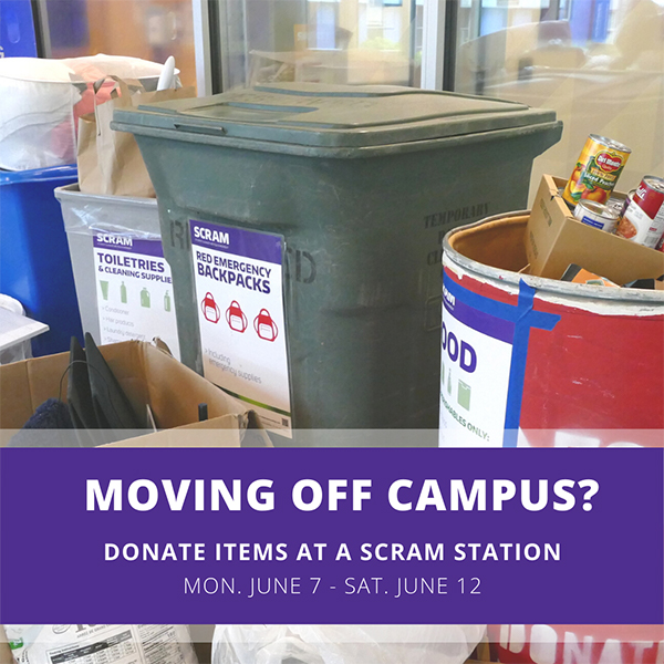 moving off campus social media post by uw recycling