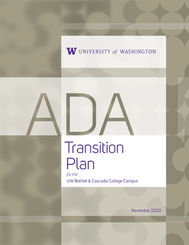 cover page of uw bothell ada transition plan