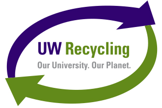 uw recycling our university our planet logo