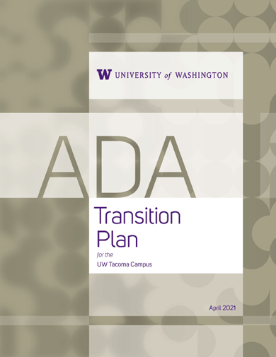 cover page of uw tacoma ada transition plan