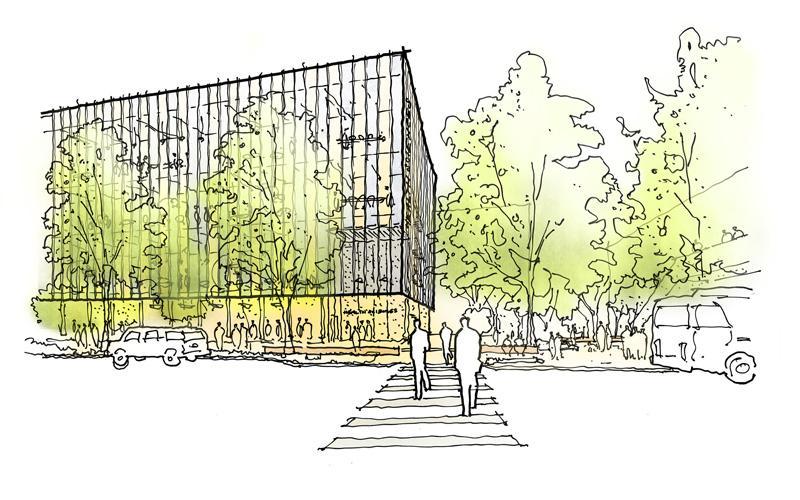 health sciences education building pacific crosswalk rendering