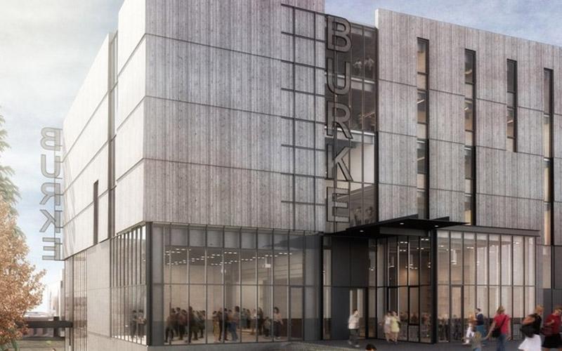 Exterior of the new burke museum rendering