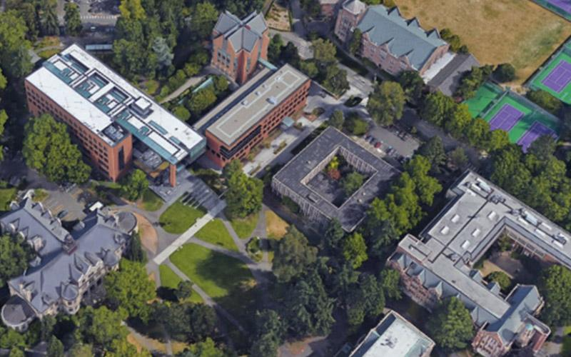 aerial view of mackenzie hall