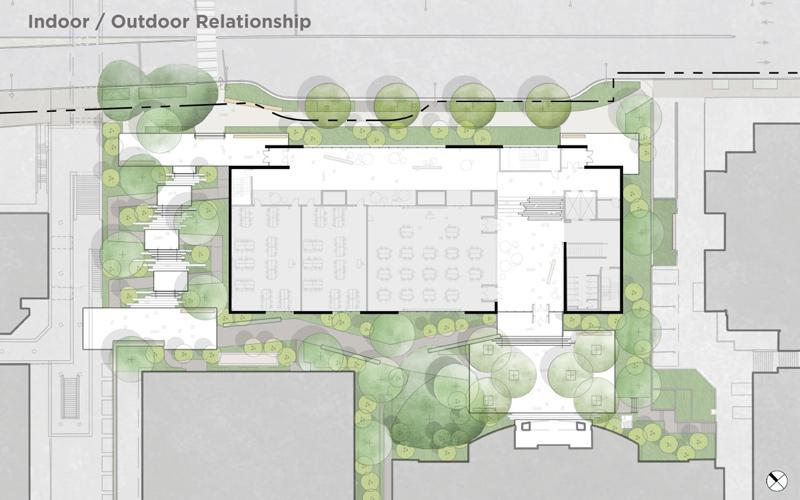health sciences education building site plan