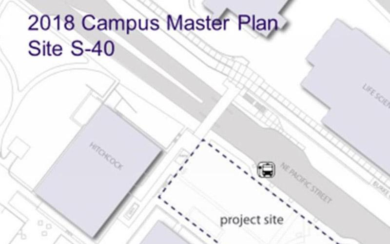 map of site location health sciences education building
