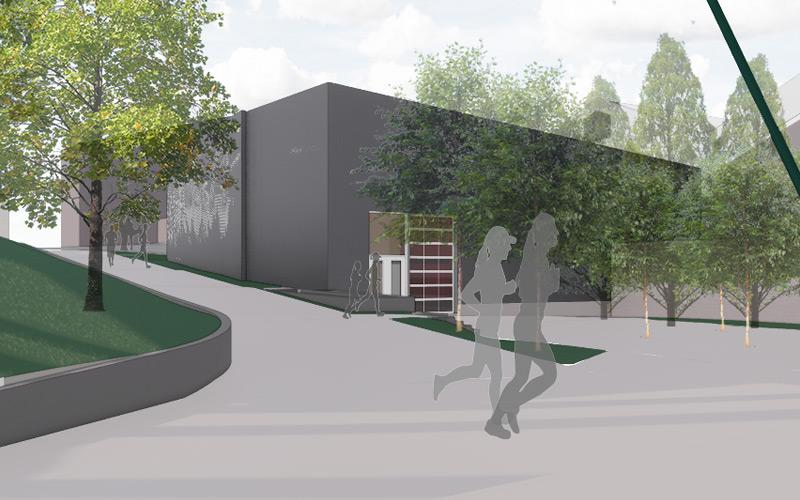 ica softball performance center exterior rendering