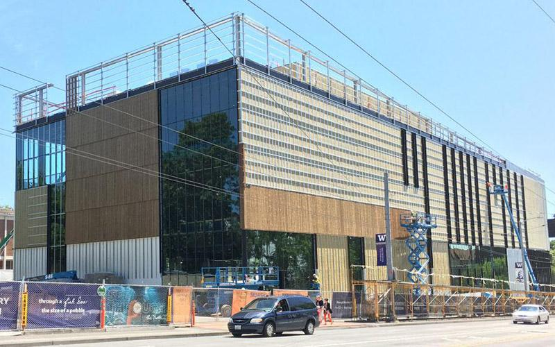 Exterior of the new burke museum