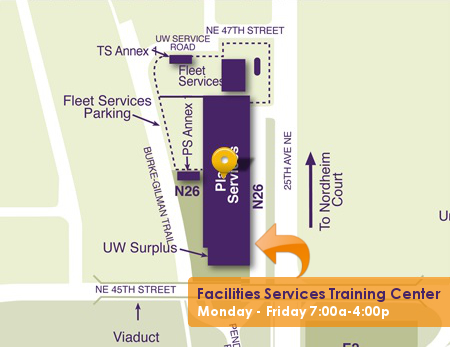 Map of UW Facilities Training Center