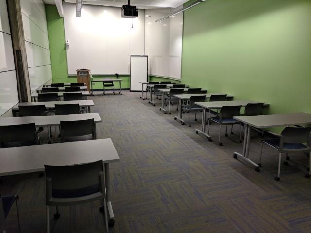 Room setup style: classroom