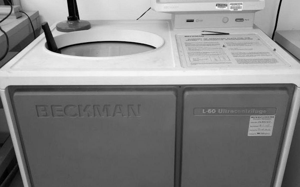 Photo of Beckman Coulter ultracentrifuge Model L-60. Auction is coming soon!