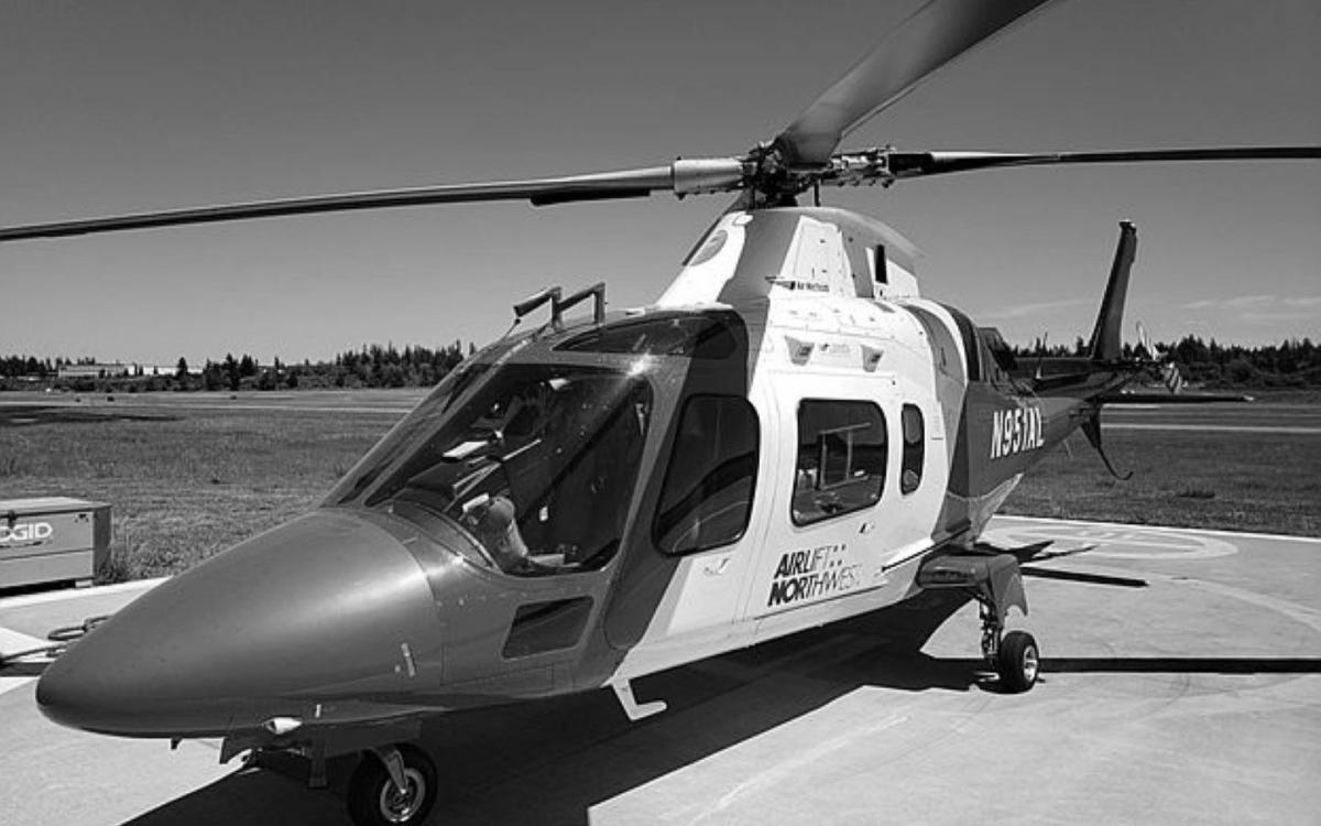 Preview Photo of Agusta helicopter that will be up for auction bids soon.