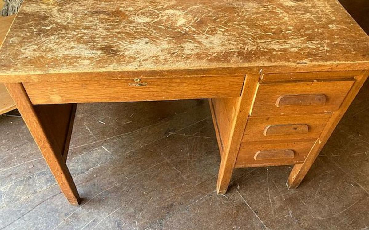 Photo of wooden desk #2 at Friday Harbor
