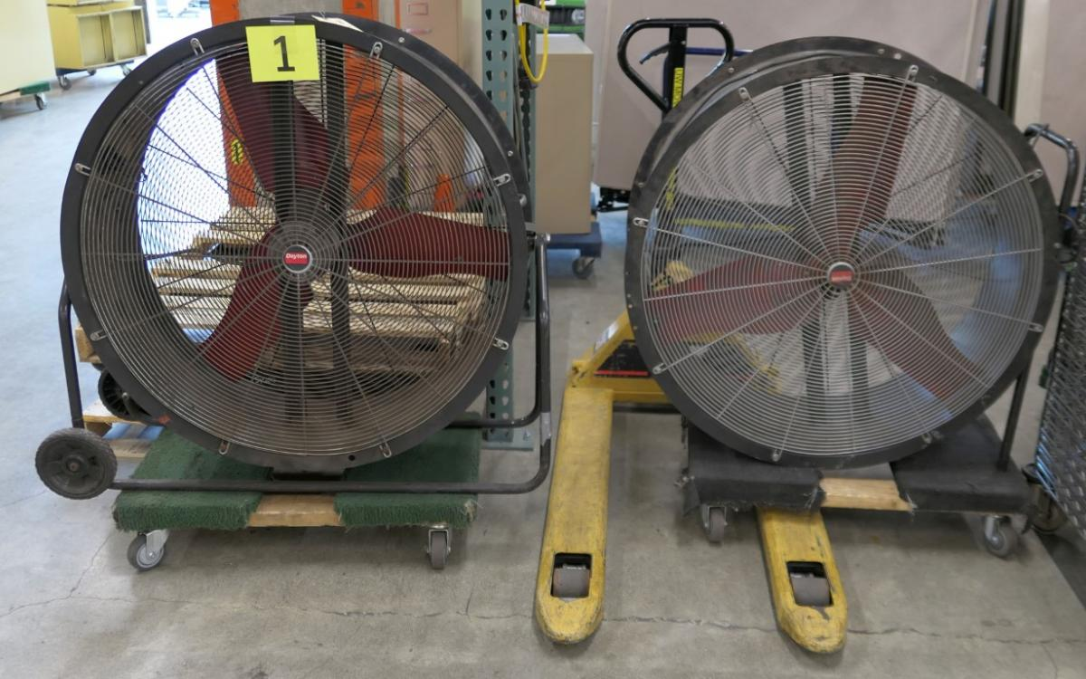 """Photo of Lot 1: 36"""" industrial fans"""