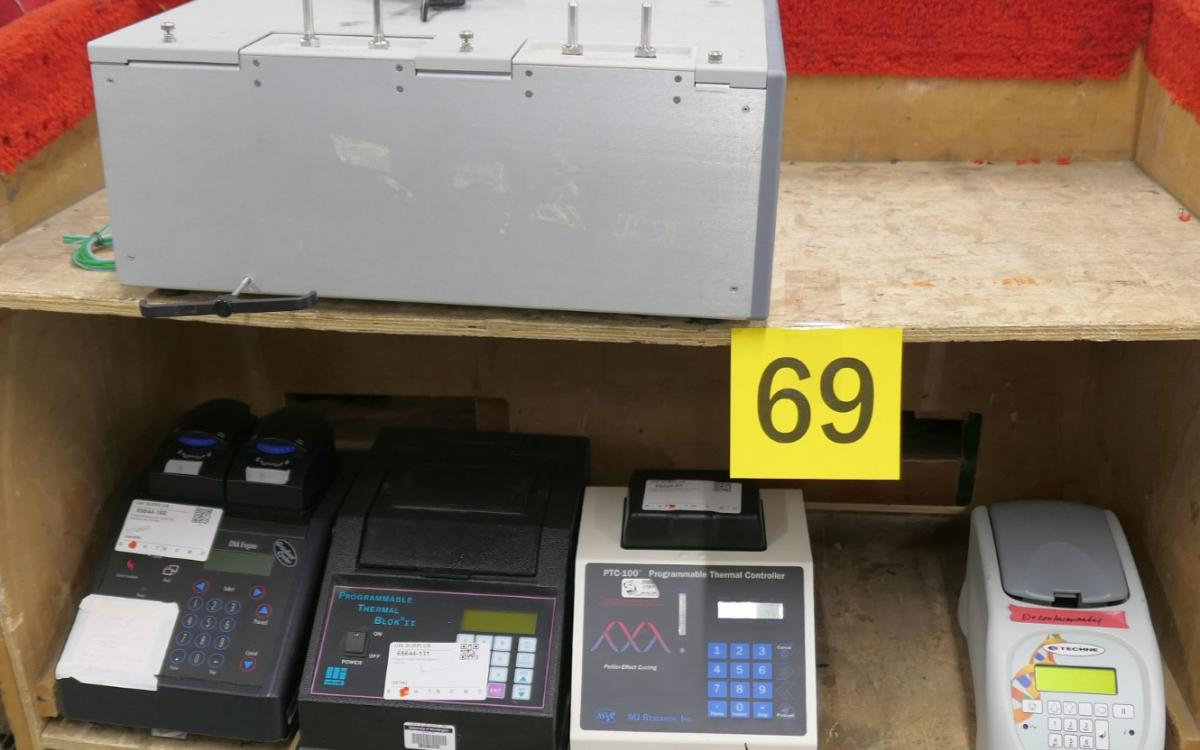 Photo of Lot 69: heat cyclers and other lab equipment