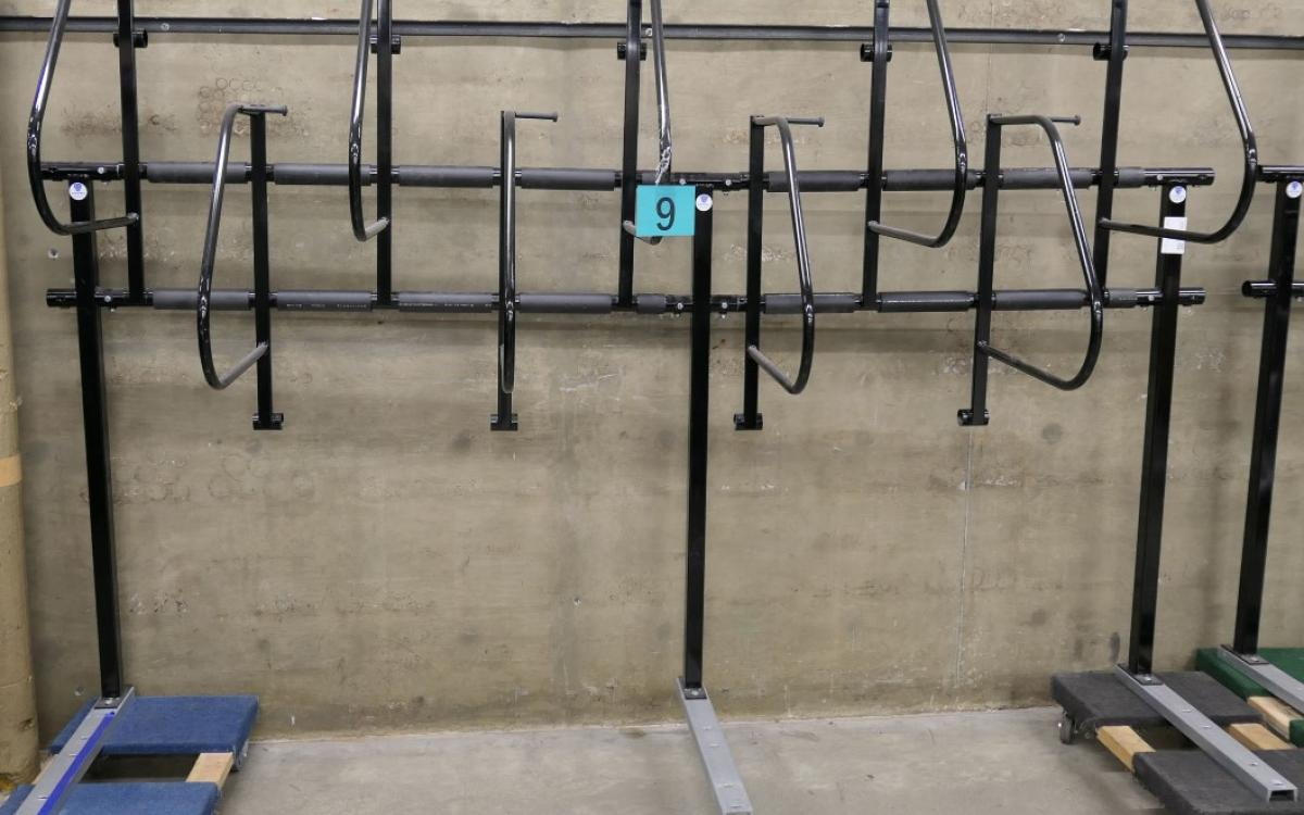Lot 9 is a free-standing 9-bike bike holder