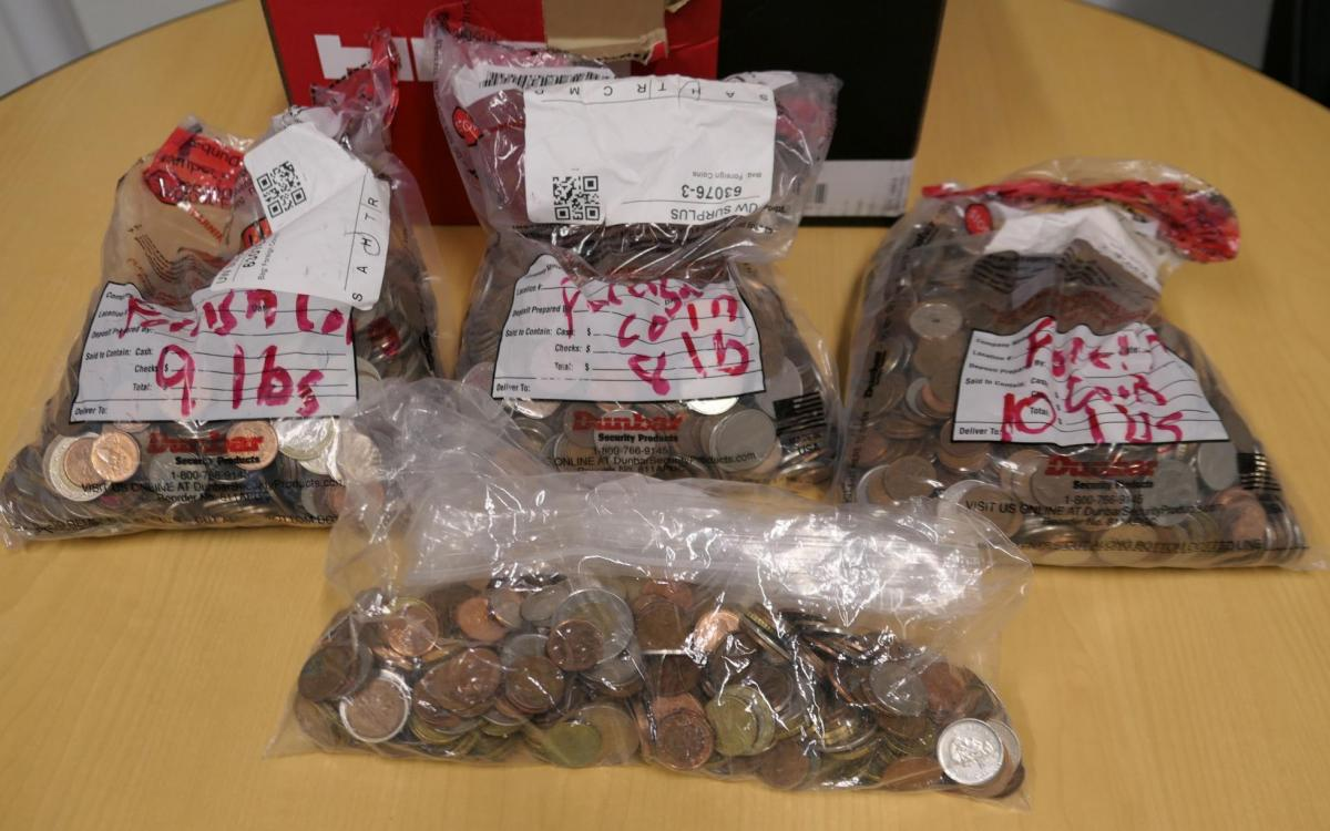 Photo of auction lot of 4 Bags: Misc Foreign (Non-US) Coins